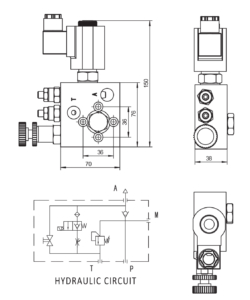 Hydraulic Lift Valve Drawing_KVS-01
