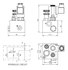 Hydraulic Lift Valve Drawing_KVS-02
