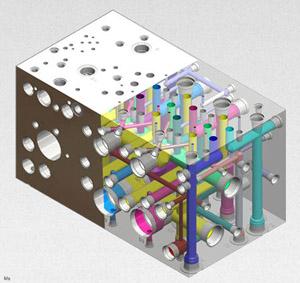 Hydraualic manifold block
