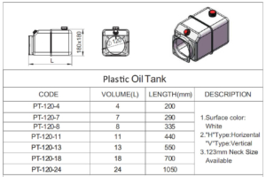 plastic hydraulic tank drawing