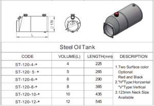 steel hydraulic tank catalog