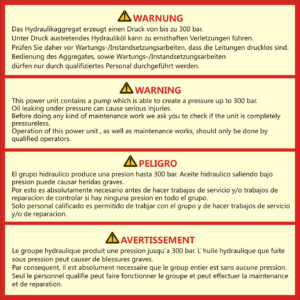 Target Hydraulics_warning label