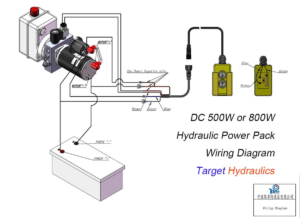 how to wire:dc500w/800w motor single acting hydraulic power pack,single  acting wiring diagram