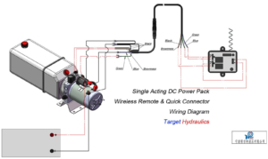 how to wire:dc wireless remote and quick connector,single acting wireless  remote wiring diagram