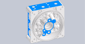 how to design die casting center manifold