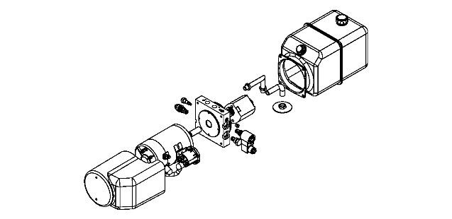 draft of 12v dc hydraulic power unit