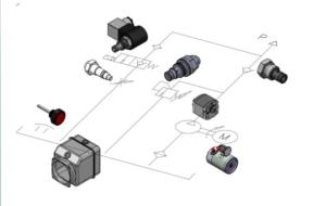 Single Acting hydraulic Power Unit Hydraulic Circuit