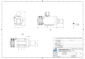 dc-motor-and-hyd-pump sets drawings
