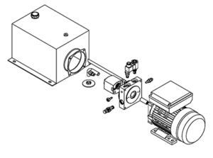 lift table hydraulic power unit