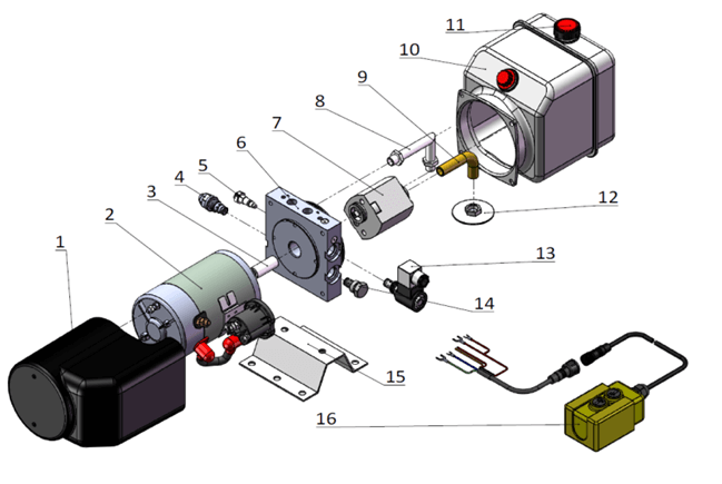 wiring dc solenoid valves schematic hydraulic power pack components target hydraulics  hydraulic power pack components target hydraulics