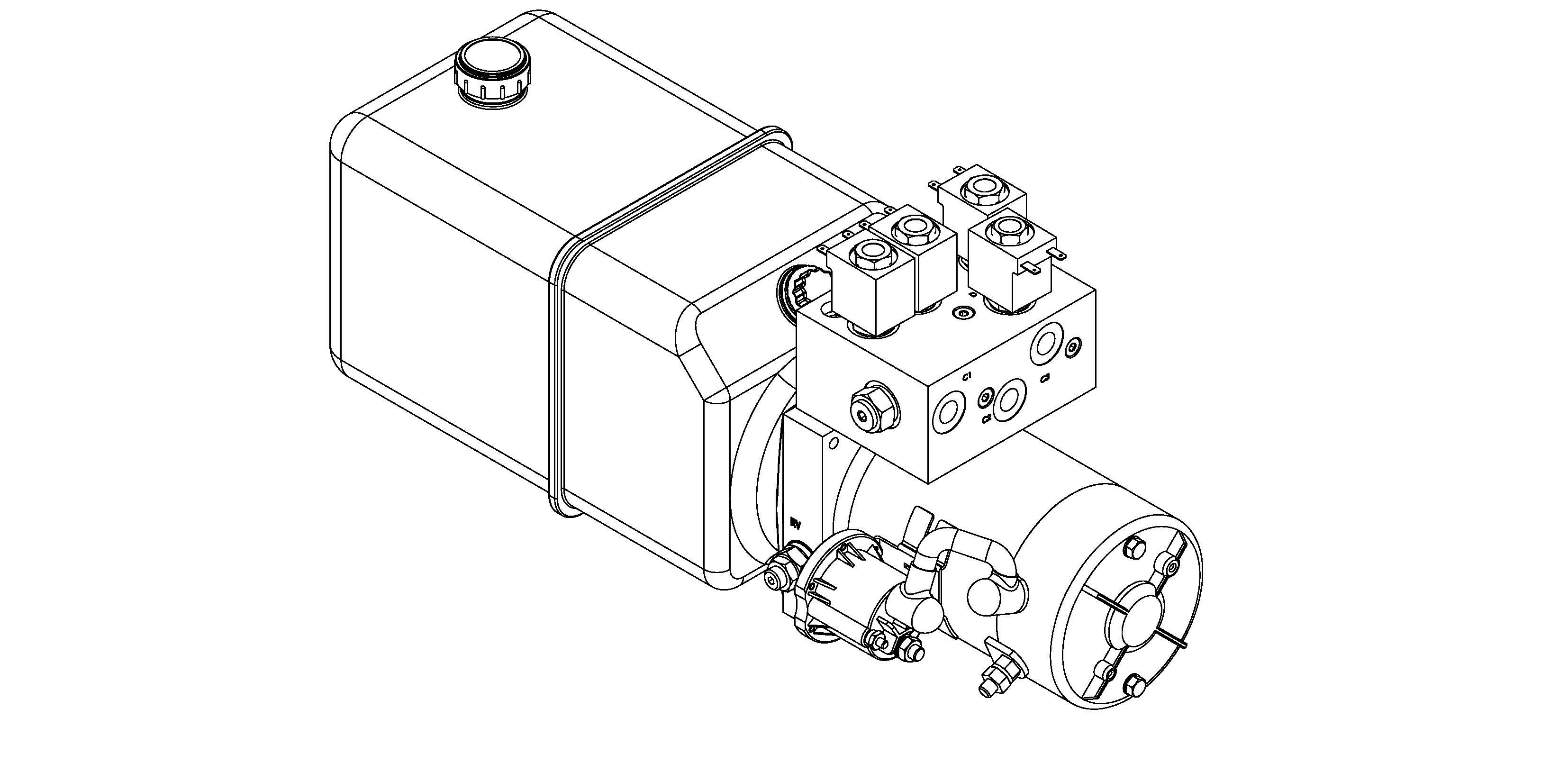 forklift-small hydraulic Power unit