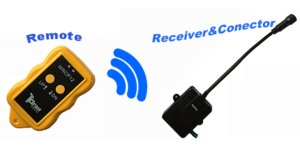 wireless remote and connector-dump trailer wireless remote