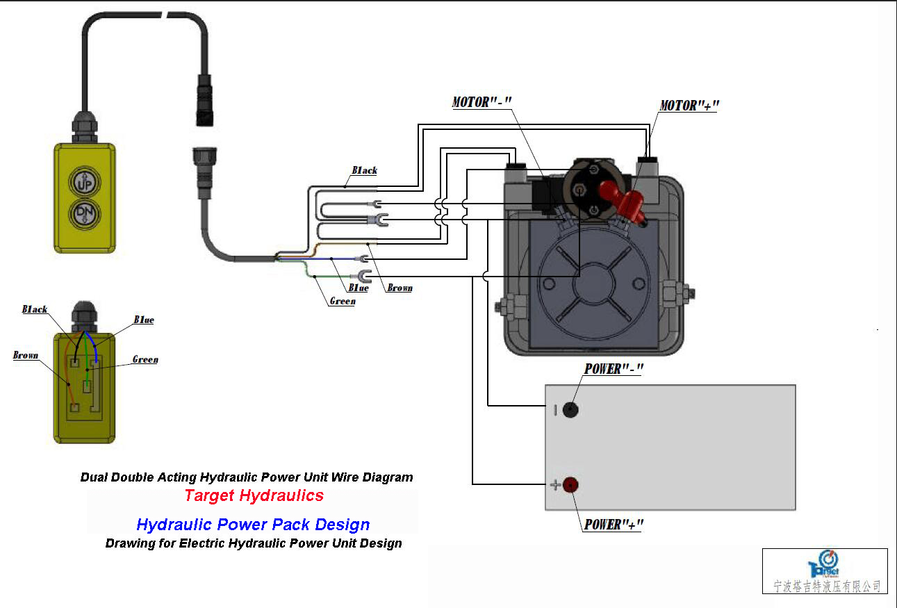 How To Wire Hydraulic Power Packpower Unit Diagram Design Ac Bank Double Acting Circuit For