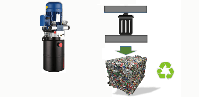 can recycling machine Power unit