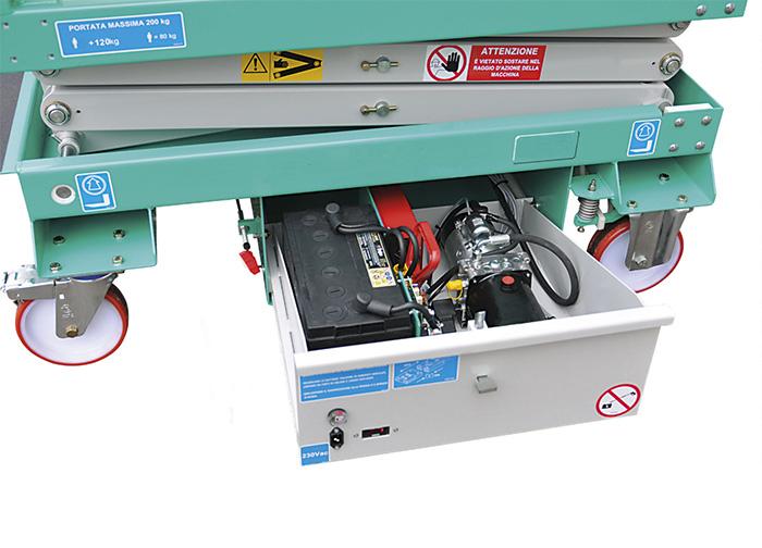scissor lift batteries and power unit hydraulic