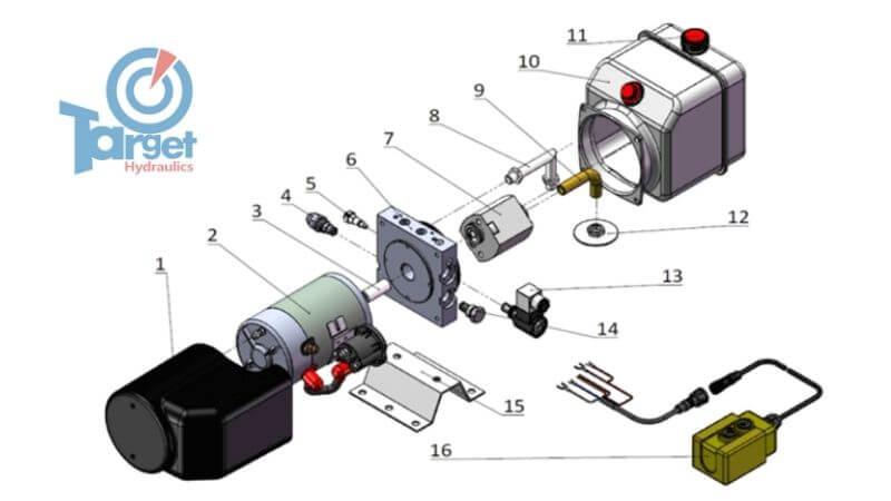 12-volt hydraulic pump parts