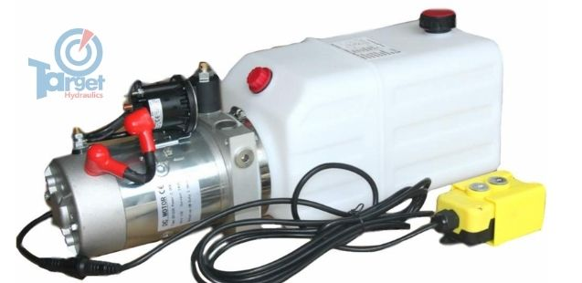 12 volt single acting hydraulic pump